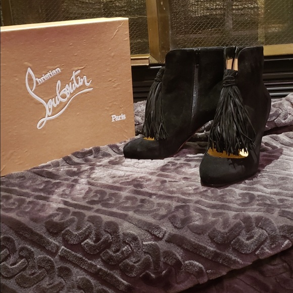 Christian Louboutin Shoes - Authentic Black Christian Louboutin booties NWOT